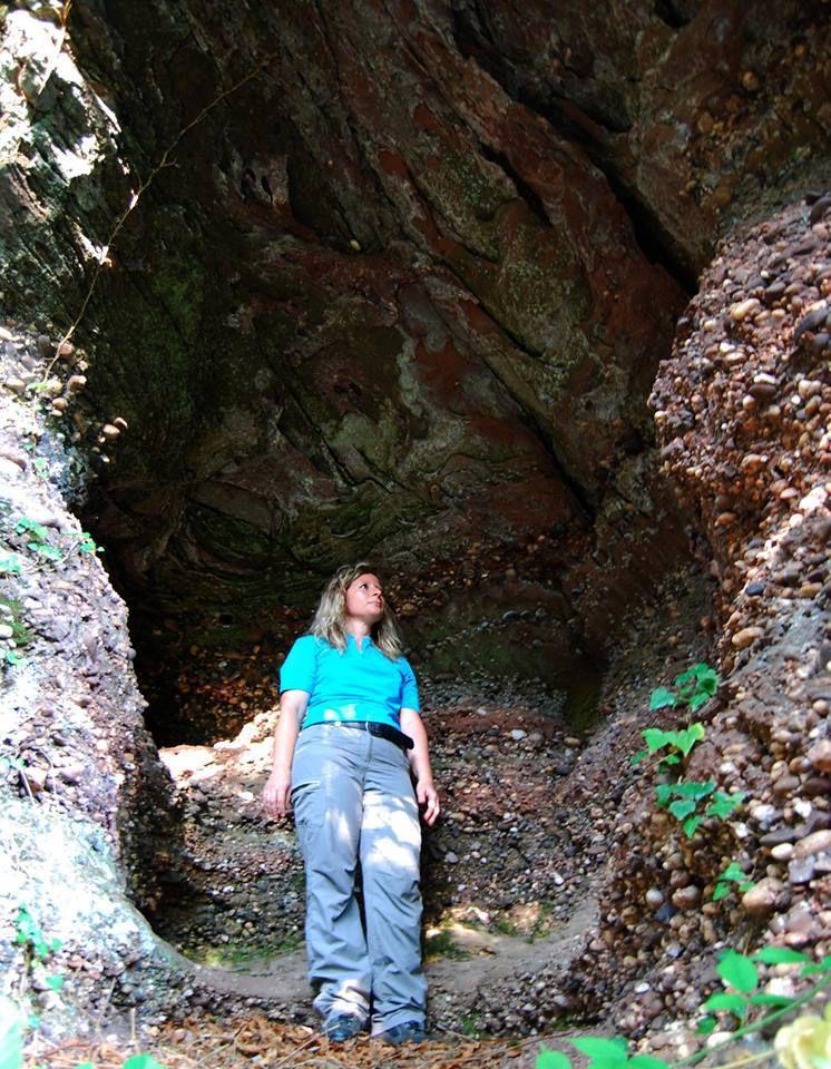 Matrice dans un rocher
