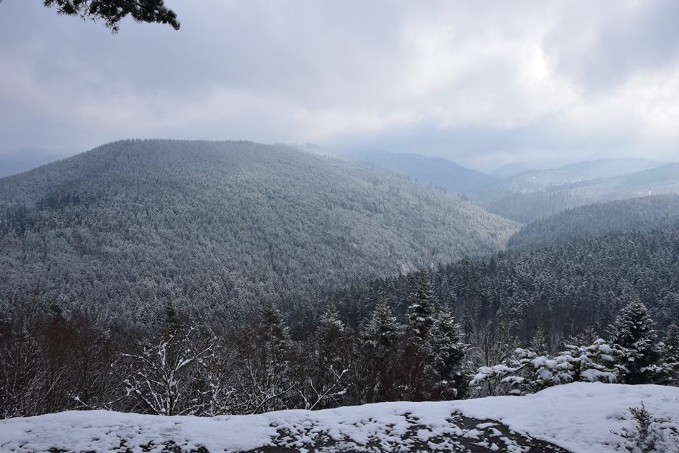 Le panorama depuis le promontoire de Belle Roche