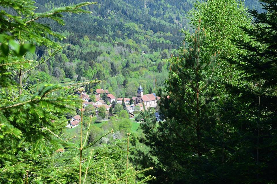 Vue sur le petit village de Luvigny