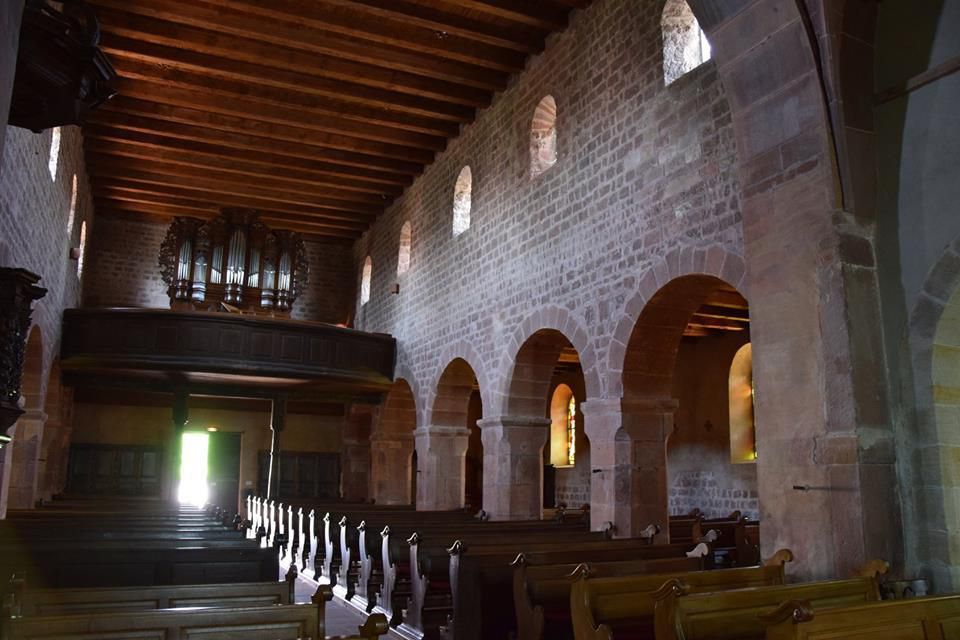 C'est une architecture typique de l'art roman alsacien