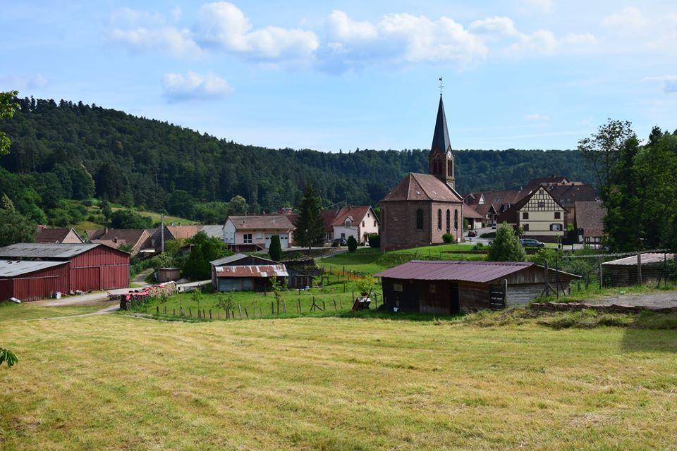 Retour à Zittersheim après une boucle d'environ 15 km