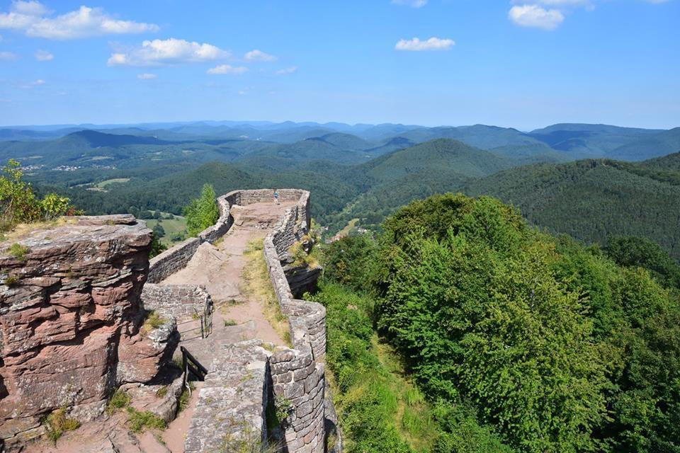 On jouit ici d'une belle vue sur le Palatinat Allemand