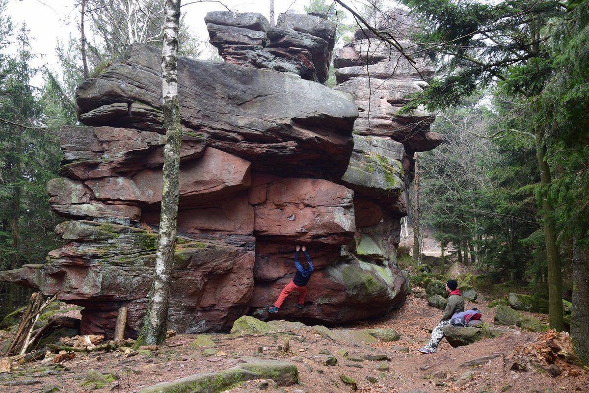 Le rocher d'escalade du Muhlberg