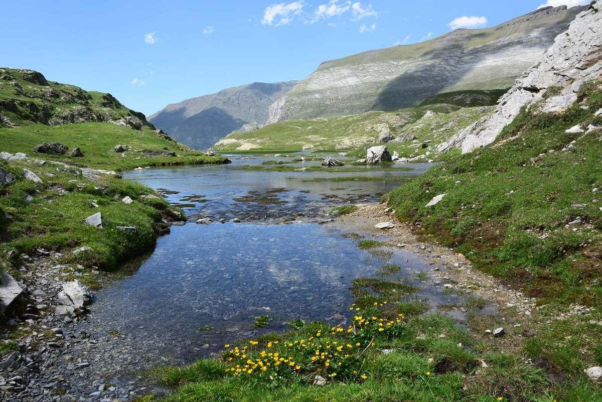 Le ruisseau qui descend du plateau du Cot