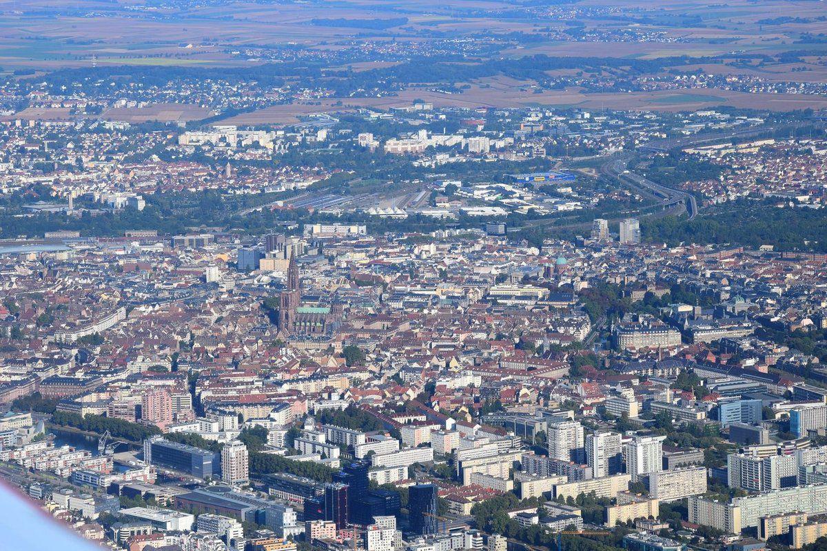 Les Vosges et la plaine Alsacienne vues du ciel