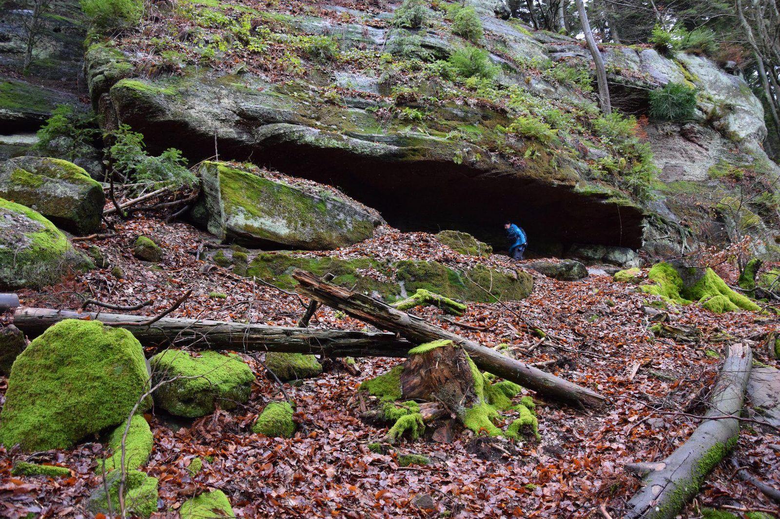 Exploration d'un petit abri sous-roche