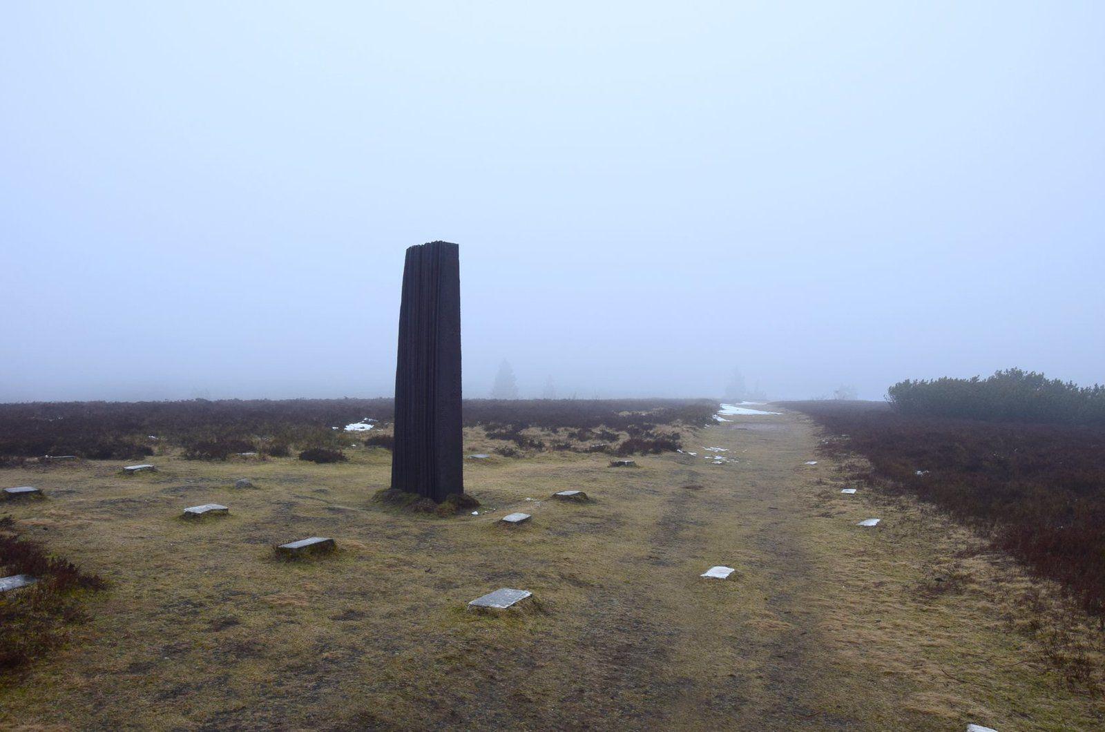 Les paysages sont engloutis dans le brouillard