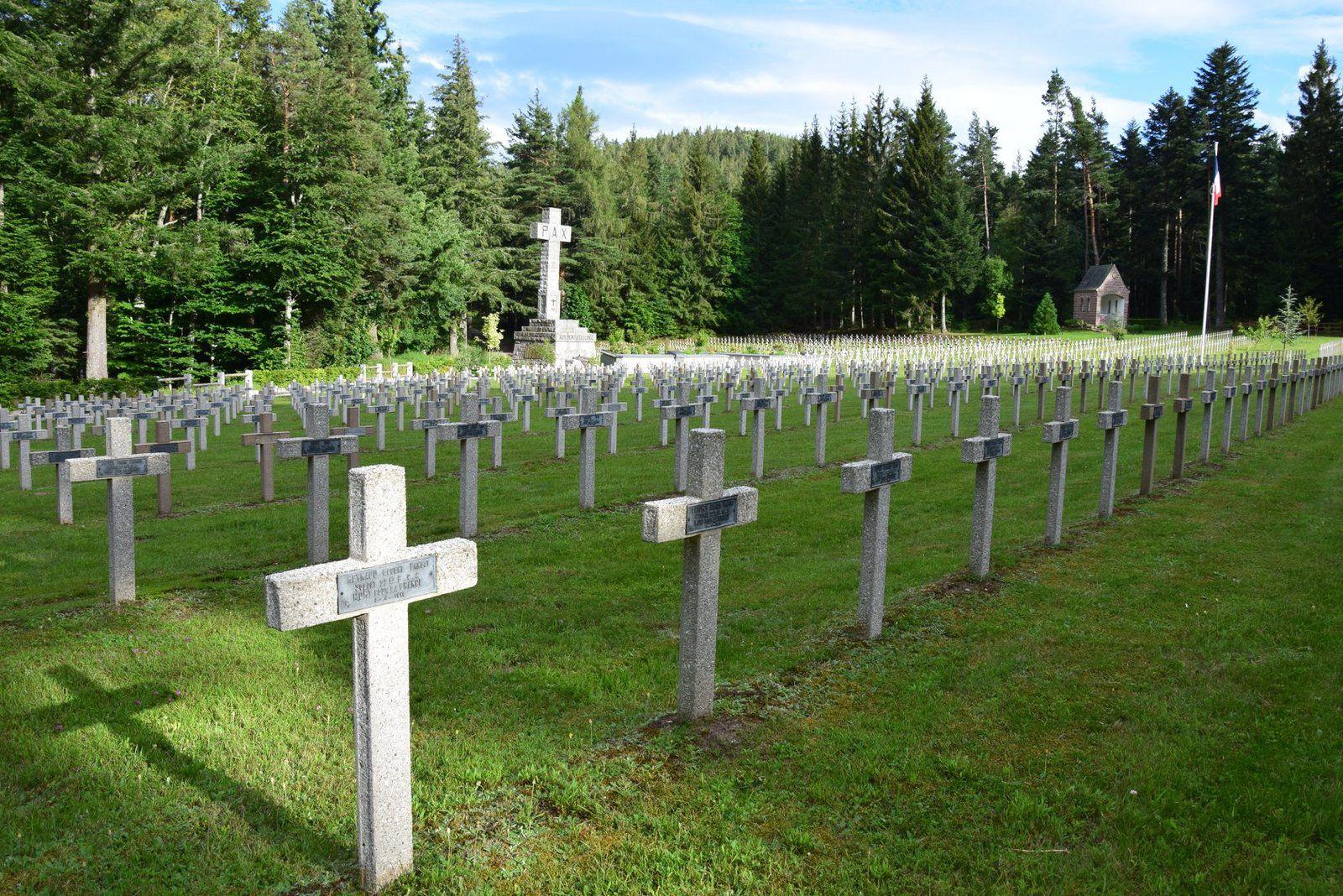 Au cimetière du Wettstein reposent 3538 Chasseurs Français