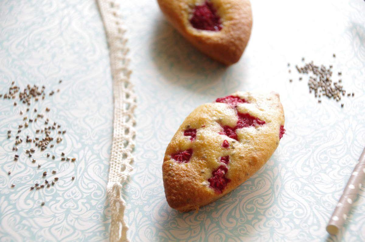 Petits gâteaux aux framboises et graines de chia