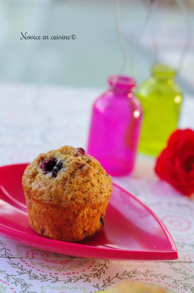 Minis muffins muesli et fruits rouges