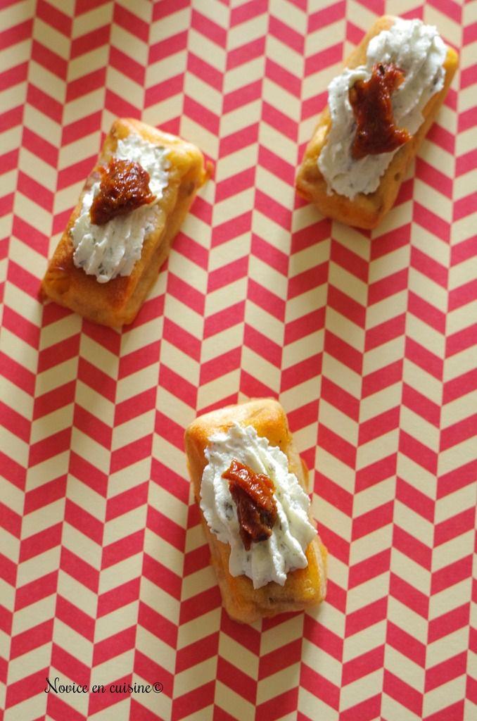 Bouchées aux lardons et tomates confites
