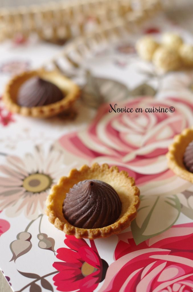 Minis tartelettes ganache chocolat