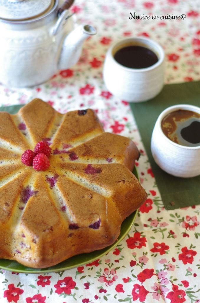 Gâteau aux framboises et ricotta