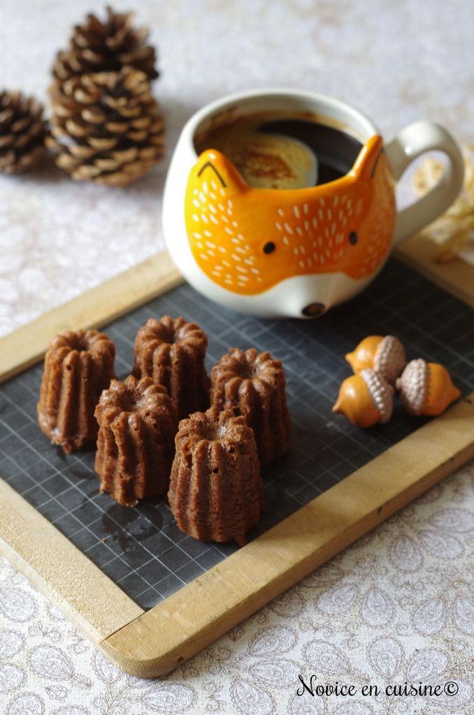 Minis cannelés chocolat/mascarpone coeur framboises