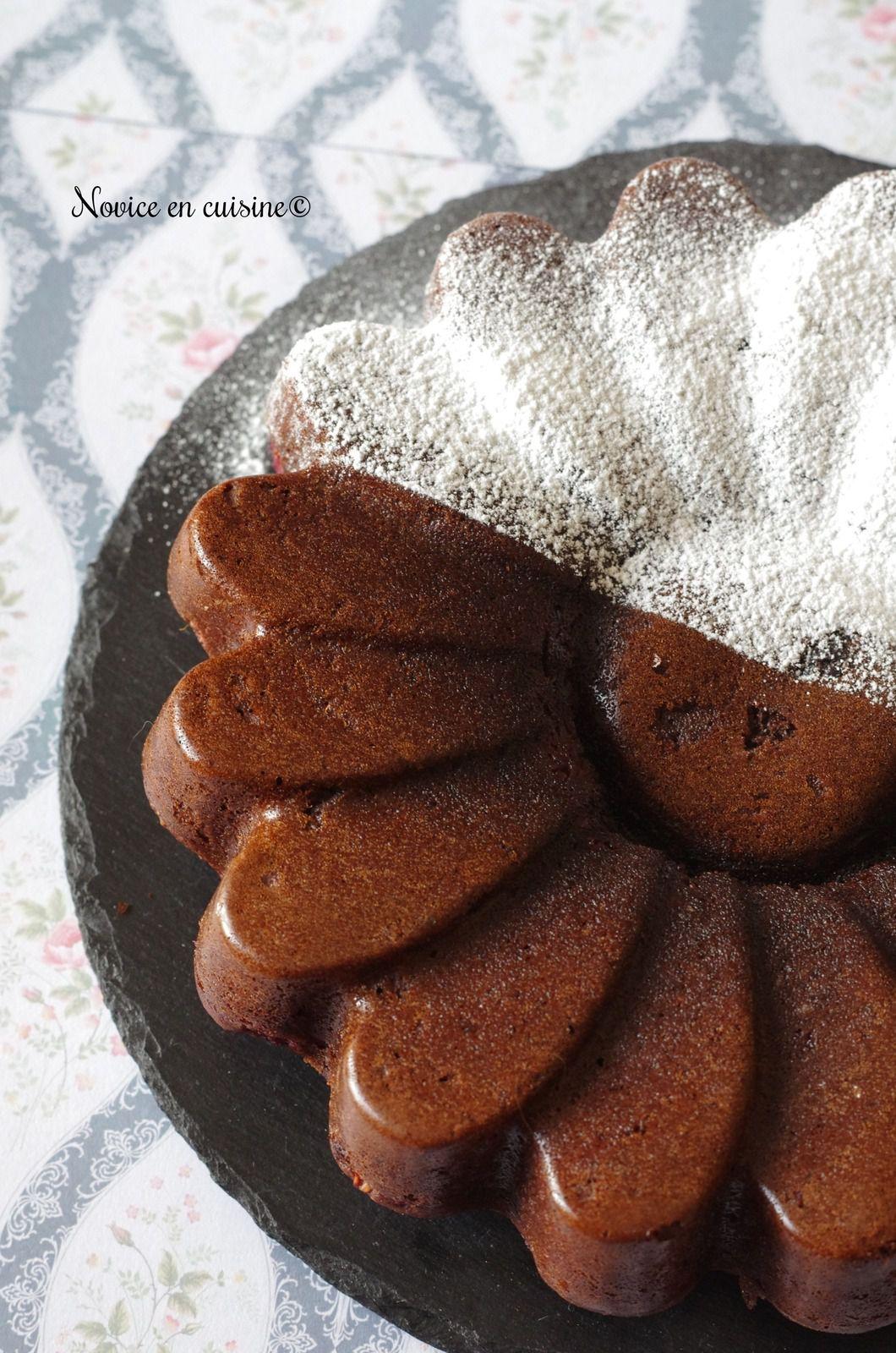 Moelleux chocolat noir/framboises