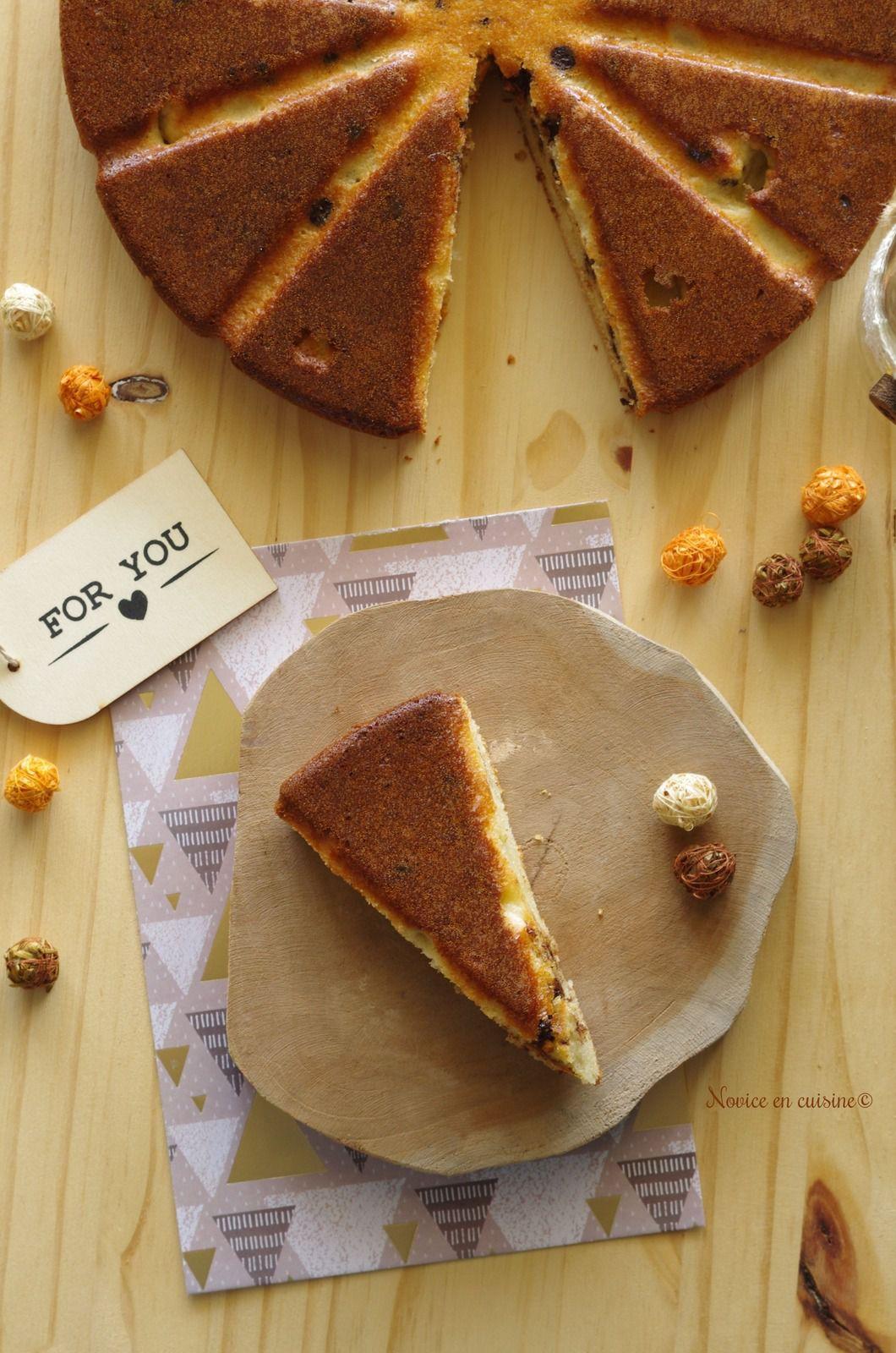 Gâteau ricotta et pépites de chocolat