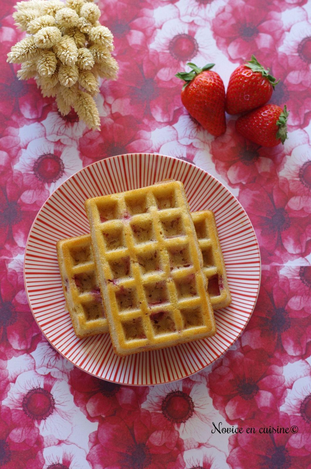 Gôuters aux fraises en forme de gaufres