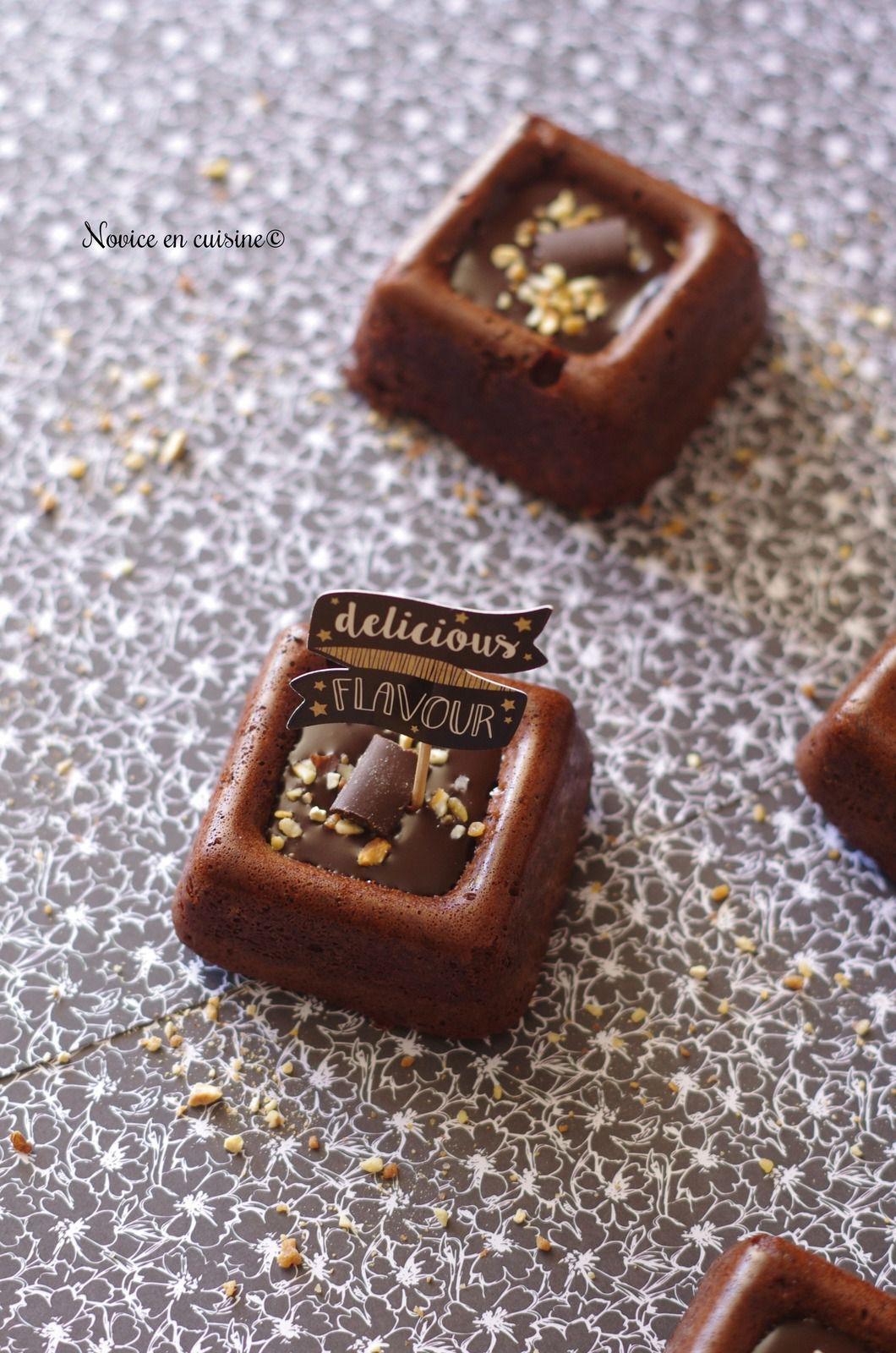 Brownies chocolat noir pralin/noisettes/chunks