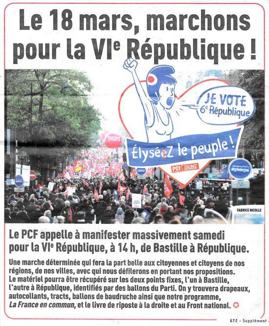 La VI ème République vaut bien une marche