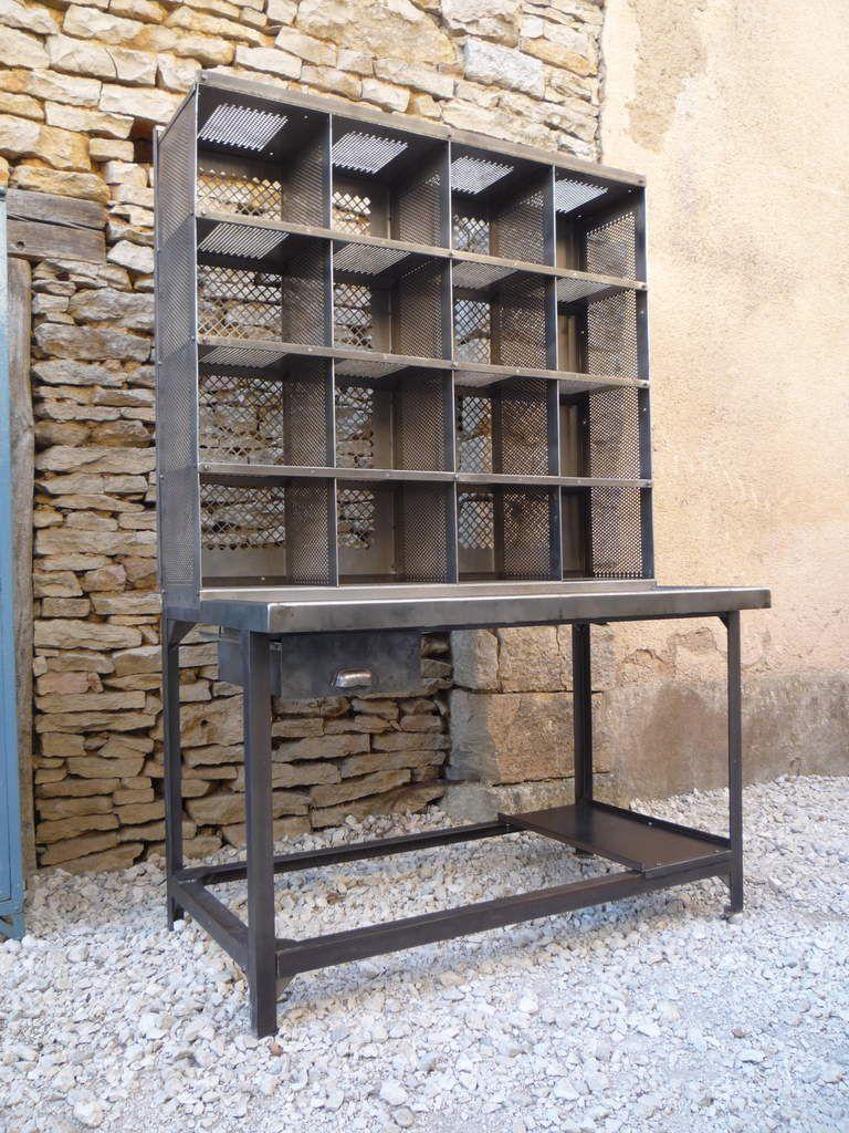 BUREAU CASIER TRI POSTAL 125, 16 CASES 'BAUCHE' 1960