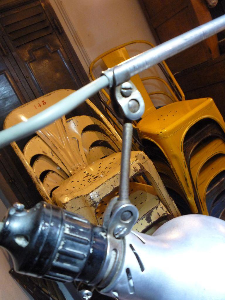 LAMPE ATELIER TELESCOPIQUE 2 BRAS 'LUMINA' 1950