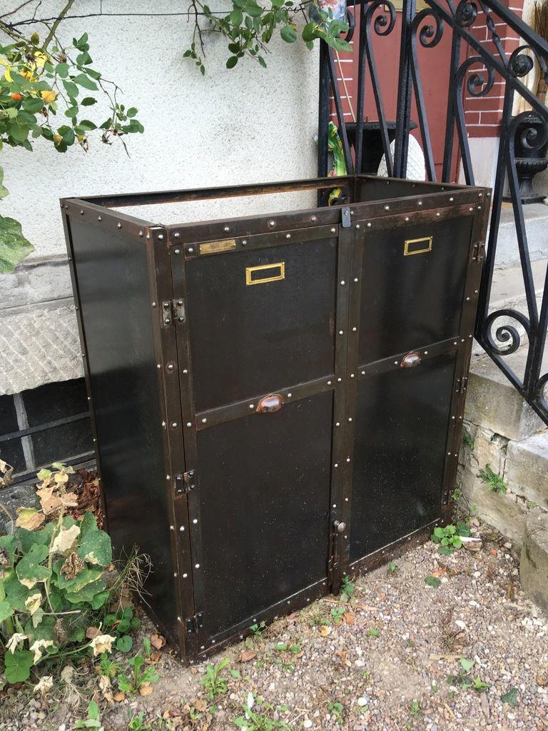 Meuble Cache Poubelle Interieur abri cache poubelles petit modÈle conteneurs enjoliveur
