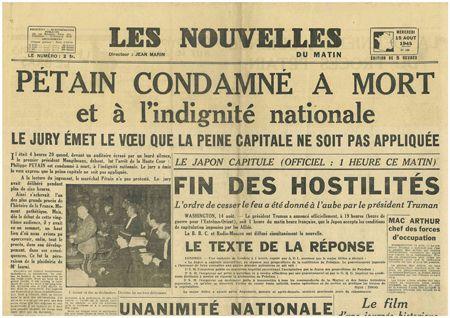 """Hommage à Pétain : """"Je ne pardonne en rien mais je ne gomme rien de notre histoire"""", se défend Emmanuel Macron. C'était hier ...et aujourd'hui... Avec le commentaire de Jean LEVY"""