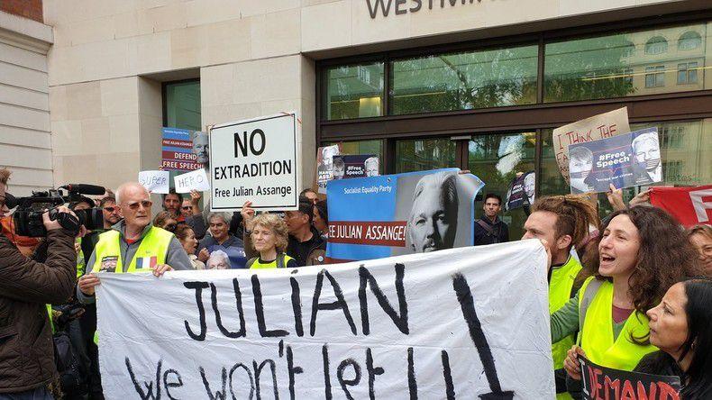 En immersion : le périple londonien de Gilets jaunes venus soutenir Julian Assange (REPORTAGE)