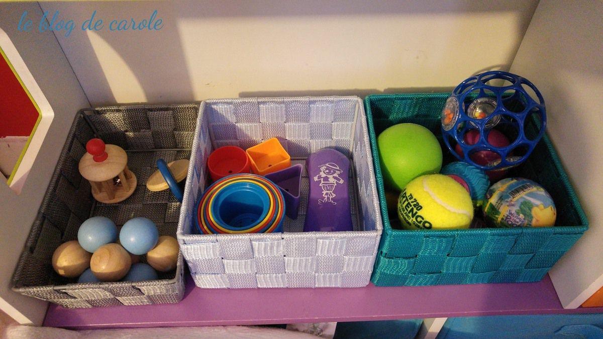 {montessori} Coin nido, paniers à trésors et jouets bébé de ses 6 à 8 mois