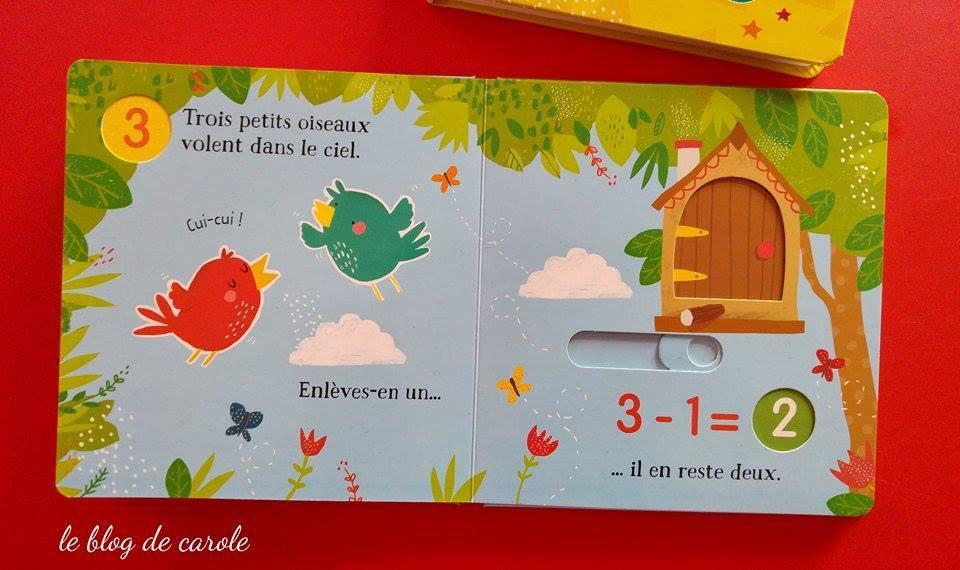 """extraits """"petites soustractions dans le jardin"""" Usborne"""