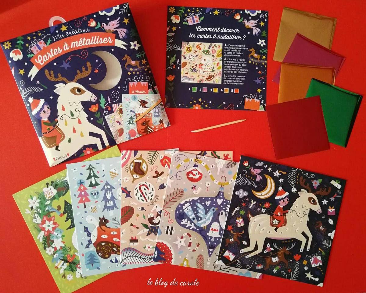 Cartes à métalliser de Noël - Editions Gründ