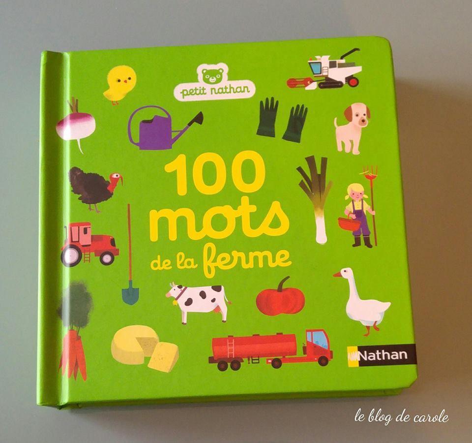 Livre 100 mots de la ferme - Nathan