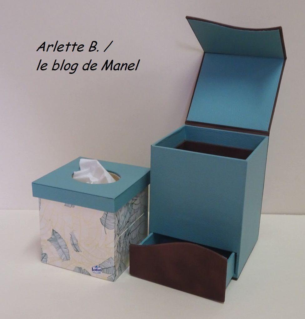 ARLETTE B./ ELEVE DE MANEL / BOITE A MOUCHOIR ET SON TIROIR SECRET