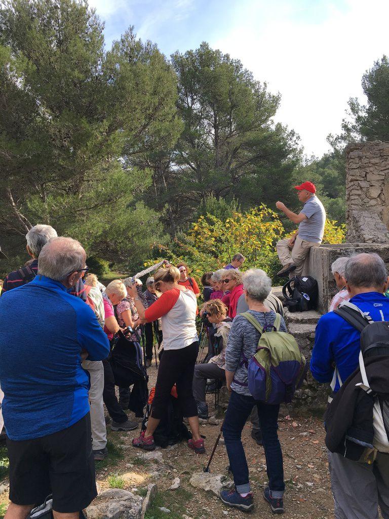 2018-11-15 Sur les traces de M. Pagnol, la ferme d'Angèle, Aubignane .