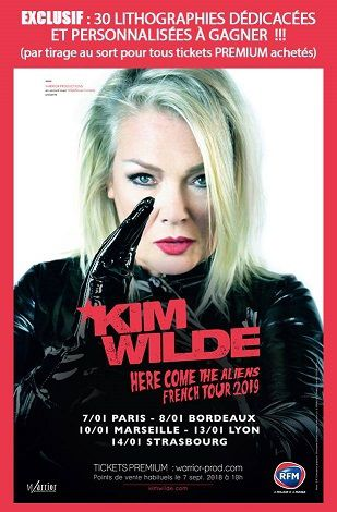 Kim Wilde French Tour 2019  - 30 lithographies dédicacées à gagner !