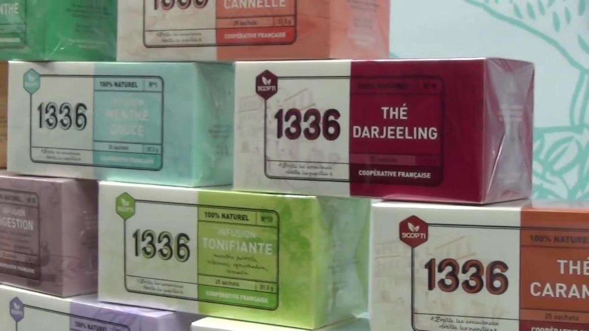 Le 9 janvier 2017. Scop-Ti, la coopérative créée par les ex-employés de Fralib, fabricants de thé dans les bouches-du-Rhône. Ces derniers ont gagné un combat face à la multinationale Unilever et ont lancé leur marque 1336 en référence aux 1336 jours de lutte. Photo P. Gherdoussi