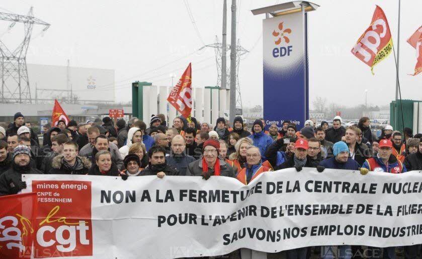 photo d'illustratuion (source: La CGT conteste la « légitimité » de la fermeture de Fessenheim lalsace.fr)