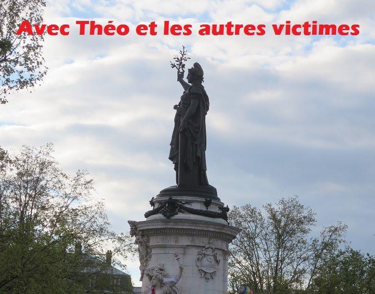 RASSEMBLEMENT« Avec Théo et les autres victimes » : samedi 18 février 2017 à 15 h -Place de la République à Paris