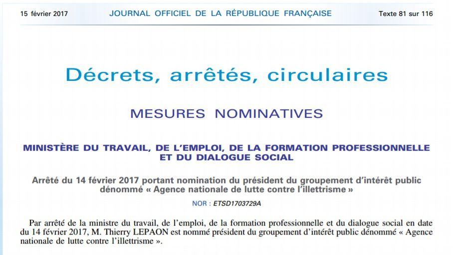Myriam EL KHOMRI trouve un boulot à Thierry LEPAON, ancien secrétaire général de la CGT