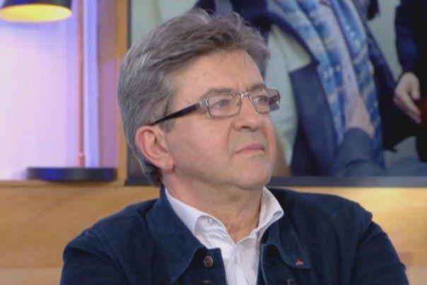"""Jean-Luc Mélenchon sur le plateau de """"C à vous"""" le 13 mars (capture d'écran)"""