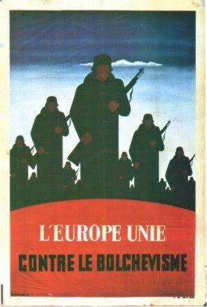Contre la Russie : l'Europe unie ( Propagande allemande de l'Occupation)