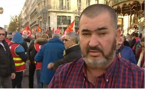 Olivier Mateu, secrétaire de l'UD CGT 13 (source photo: France 3 régions)