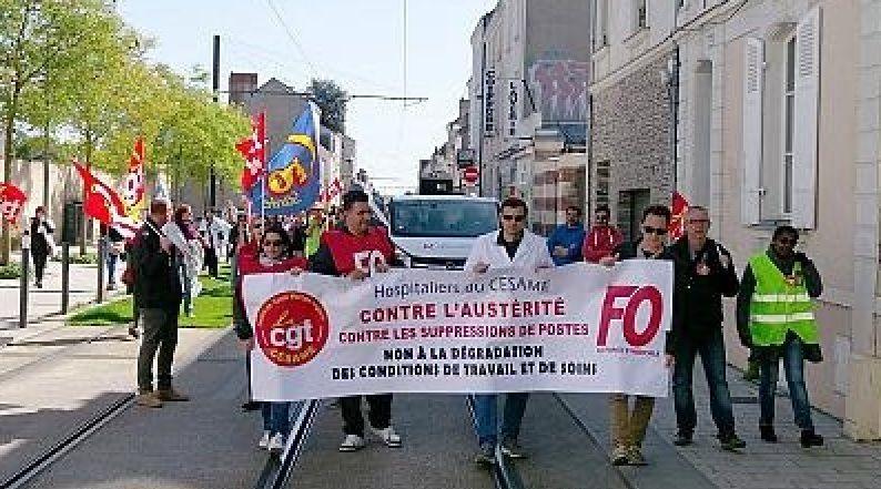 Manifestation du 6 avril 2017 à Angers. (source photo : FO )