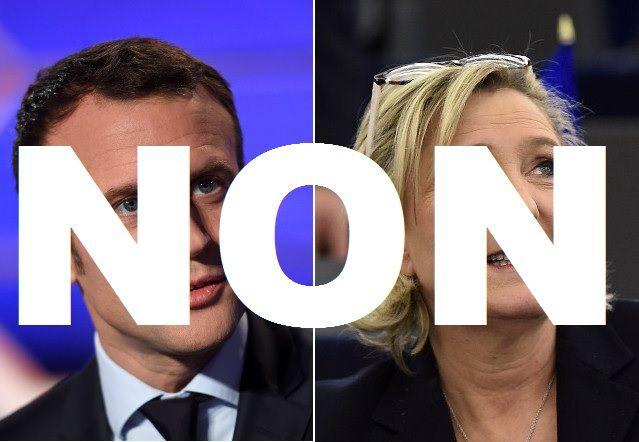 AUCUN VOTE pour Marine Le Pen, AUCUN VOTE pour Macron