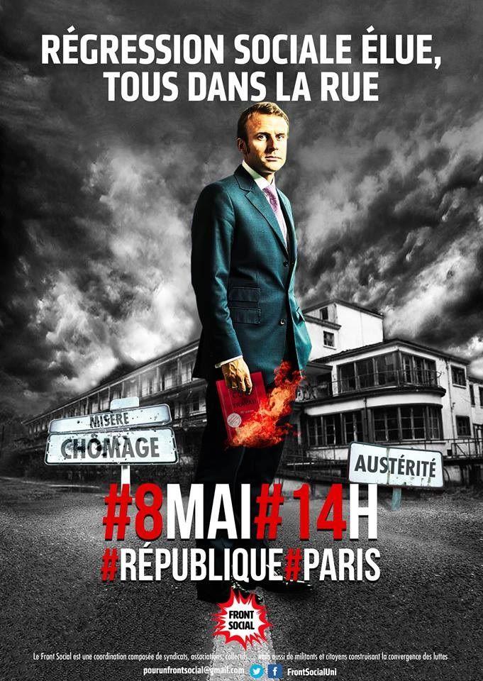 RÉGRESSION SOCIALE ÉLUE – TOU-TES DANS LA RUE ! 8 mai 2017 -14h -Place de la Rpéublique à Paris [Front Social]