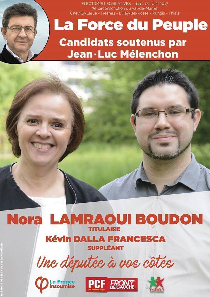 Nora Lamraoui-Boudon (PCF) et Kevin Dalla-Francesca (France Insoumise)