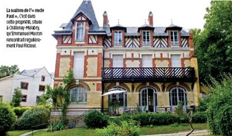 """La maison de l'""""oncle Paul"""". C'est dans cette propriété située à Chatenay-Malabry, qu'Emmanuel Macron rencontrait régulièrement Paul Ricoeur. (Le Point)"""