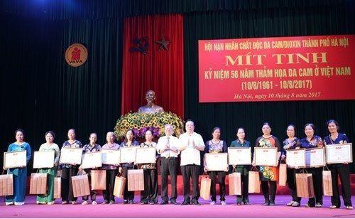 VIETNAM : COMMÉMORATION du  56 ème ANNIVERSAIRE du  DÉSASTRE de L'AGENT ORANGE à HANOÏ