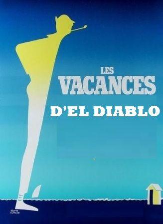 """Montage à partir d'une affiche du film de Jacques Tati : """"Les vacances de Monsieur Hulot"""" (source : Comme au Cinéma )"""