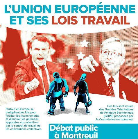 Les LOIS TRAVAIL en UNION EUROPÉENNE [le débat du 20 septembre 2017 à Montreuil en VIDÉO]
